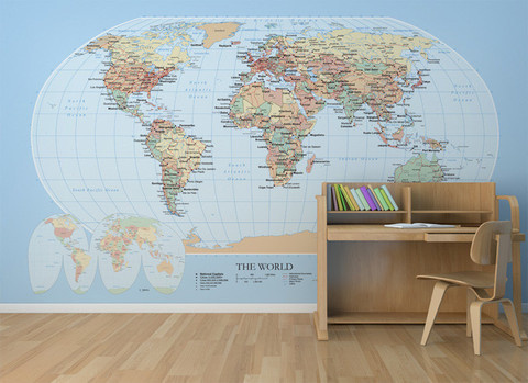 Shop world map global mural small annandale wallpapers blue mm202m s gumiabroncs Choice Image