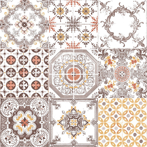Spanish Tiles - Brown