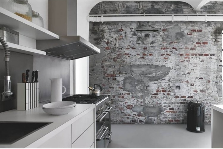 shop factory brick wall mural annandale wallpapers. Black Bedroom Furniture Sets. Home Design Ideas