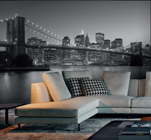 Shop brooklyn bridge mural xl annandale wallpapers for Brooklyn bridge mural wallpaper