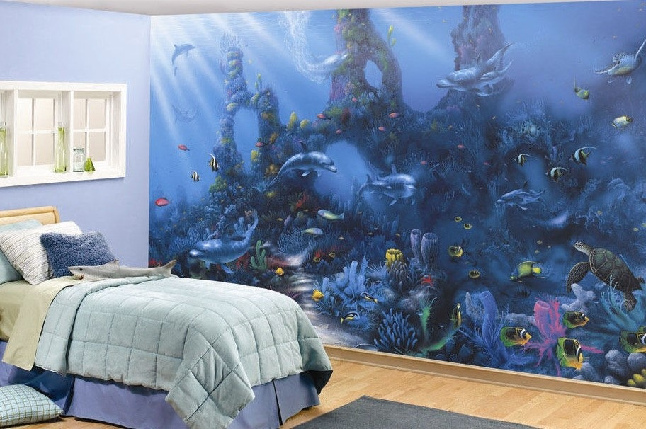 Shop dolphins paradise mural annandale wallpapers for Dolphin paradise wall mural