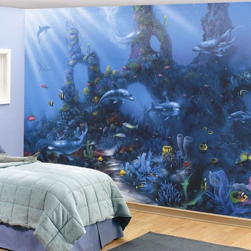 Shop by design animals annandale wallpapers for Dolphin paradise wall mural