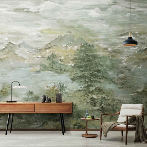 Chinese Landscape Mural